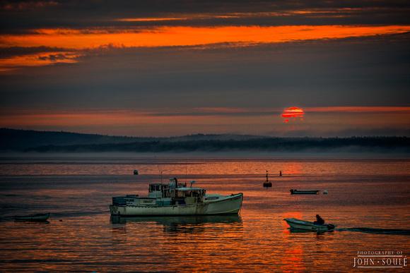 Bar Harbor Red Sun