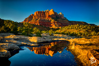 Zion - Rockville Bench Sunset Reflection III