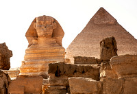 Pyramid of Giza with Sphinx, Cairo, Egypt