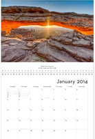 January - Mesa Arch sunrise, Utah