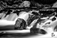 Zion - Virgin River (B&W)