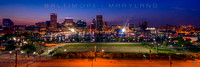 Baltimore at Night with Title (12x36)