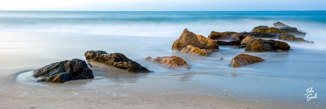 Long Beach Jetty Sunrise 3 - 36x12