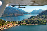 Seaplane over Lake Como
