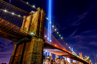 Tribute In Lights 911 New York - Under the Brooklyn Bridge